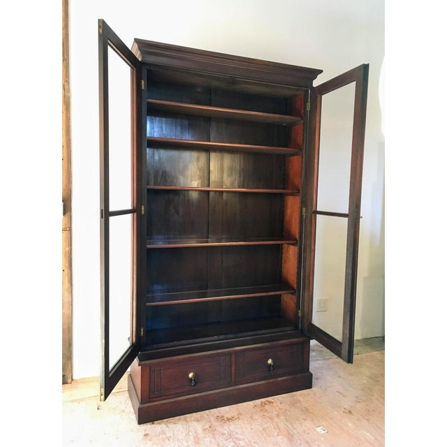 Traditional 19th Century Victorian Two Door Bookcase Display Cabinet For Sale - Image 3 of 7