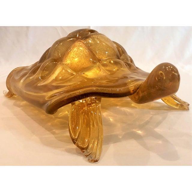 Estate Italian Murano Glass Turtle Sculpture, Circa 1950's-1960's.