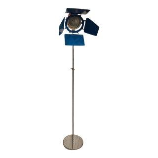 Mid Century Chrome Studio Floor Lamp For Sale