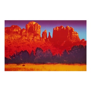"""Sedona Spectrum"" Western Landscape Colorful Limited Edition Lithograph Art Print For Sale"