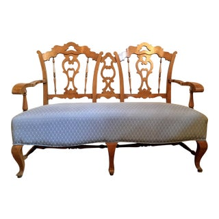 Early 20th Century Vintage French Country Settee For Sale