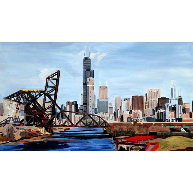 Josh Moulton Giclee Print - Chicago From 18th Street For Sale