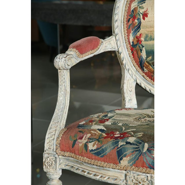 Fine Pair of Swedish Neoclassic Painted Armchairs For Sale - Image 9 of 9