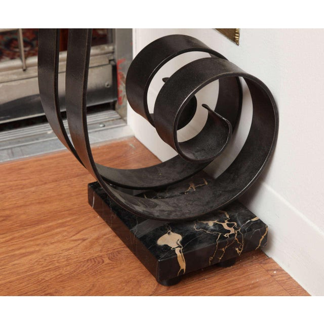 Art Deco Wrought Iron Console For Sale - Image 9 of 10