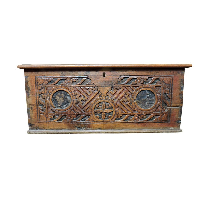 Indonesian Wooden Box For Sale