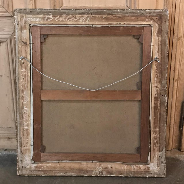 18th Century Framed Oil Portrait on Canvas For Sale - Image 9 of 12