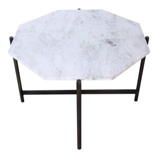 Pottery Barn Montague Marble Bunching Coffee Table For Sale