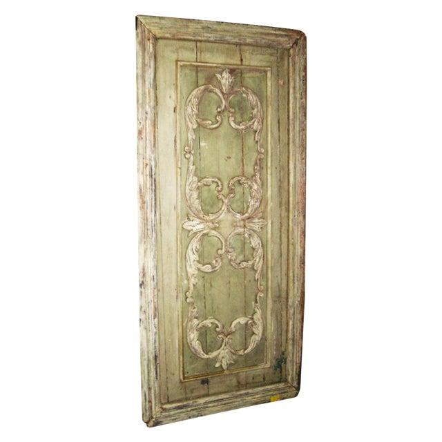 18th Century Louis XVI Painted Panel Door For Sale