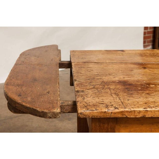 19th Century French Farmhouse Kitchen Table & Leaves - Image 10 of 10