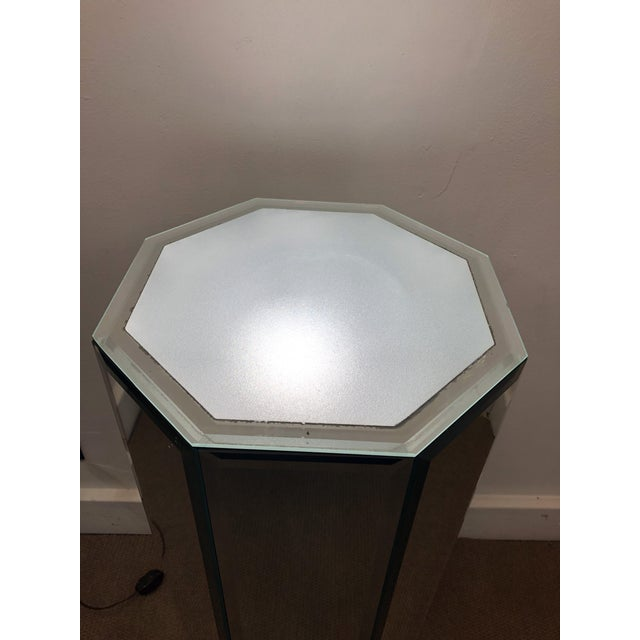 Mid-Century Modern Mirrored Pedestal For Sale - Image 4 of 10