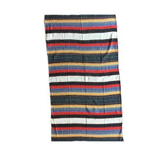 "Persian Striped Kilim Area Rug - 5' x 8'7"" For Sale"