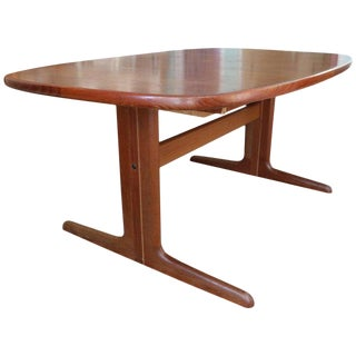 1950s Danish Modern Two-Leaf Cherry Dining Table