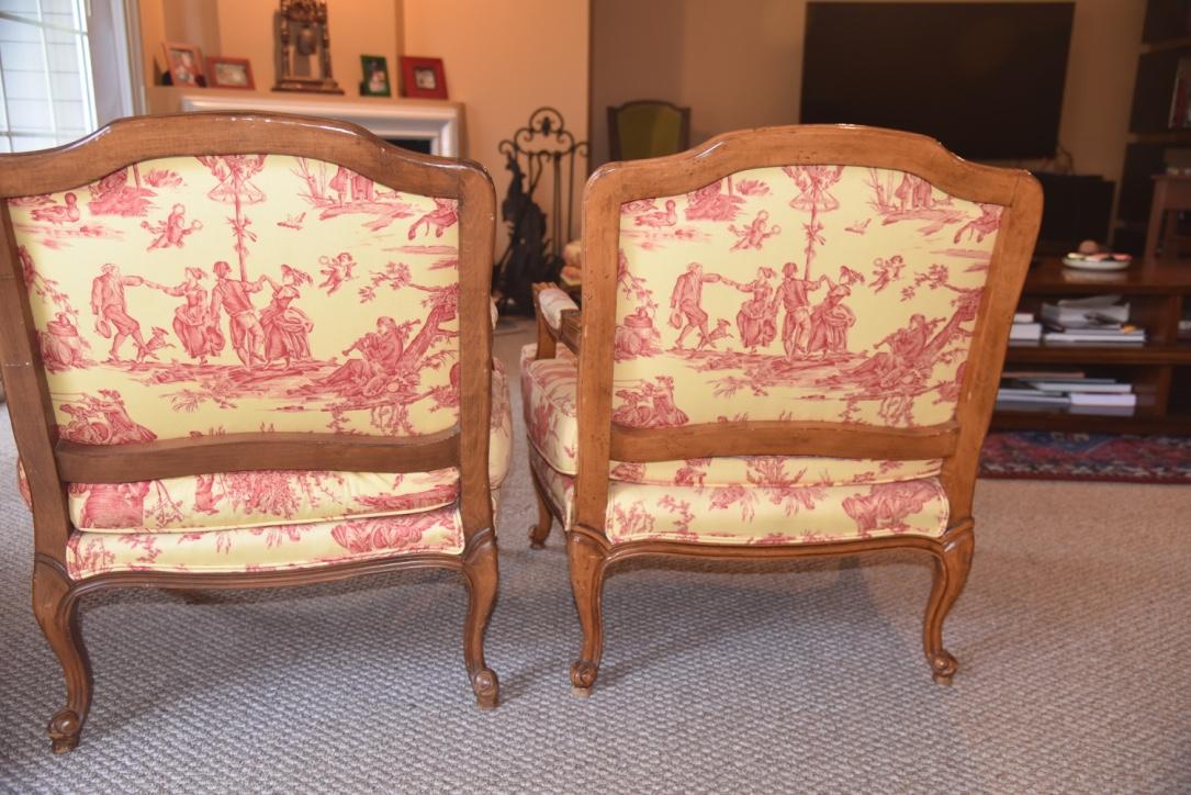 Delicieux Pierre Deux Louis XV Chairs U0026 Ottomans   A Pair   Image 4 Of 11