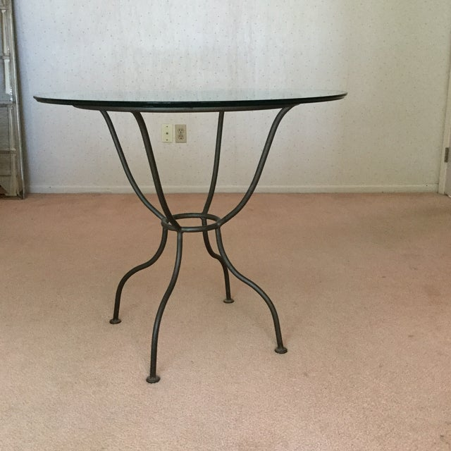 Drexel French Countryside Glass Top Round Table - Image 4 of 4