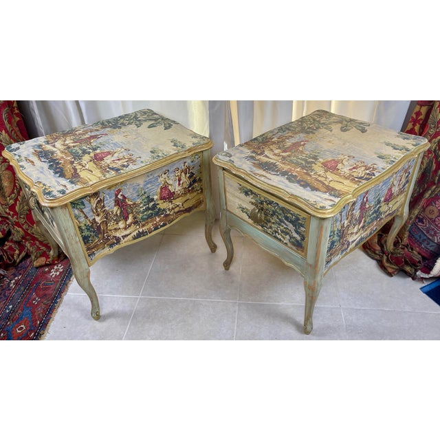 1960s Night Stands Decoupaged With Idyllic Scene - a Pair For Sale In Palm Springs - Image 6 of 11