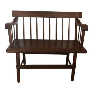 Antique 1850-60 Modernist Deacon's Bench