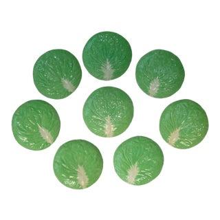 8 Dodie Thayer Cabbageware Lettuce Leaf Salad Plates For Sale