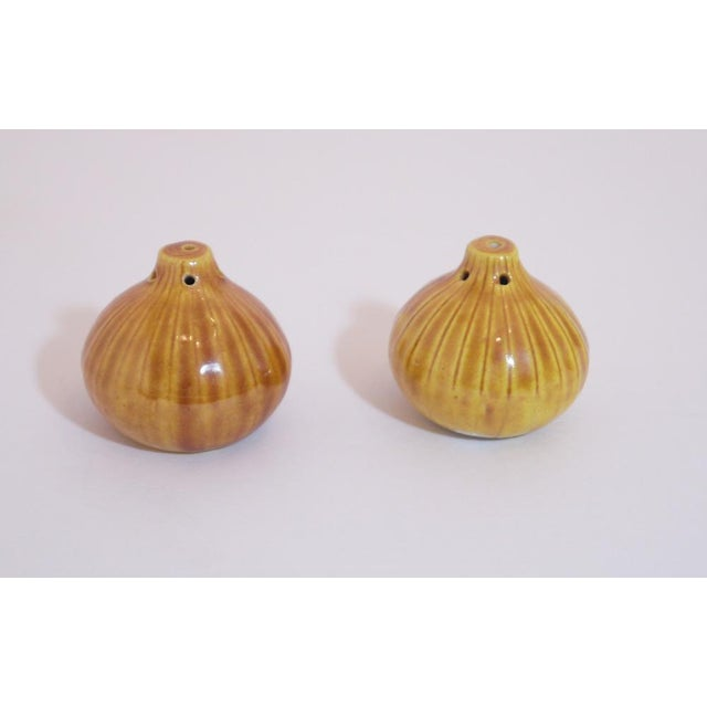 Retro Onion Salt and Pepper Shakers - a Pair For Sale - Image 4 of 4
