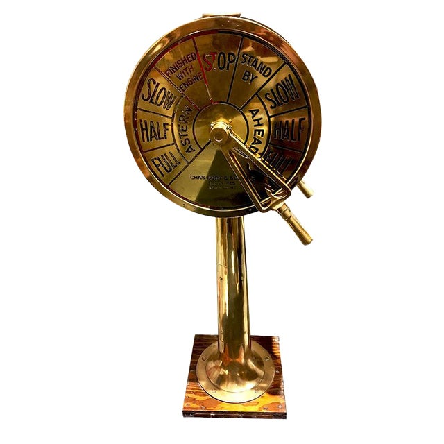 Large Brass Telegraph by Charles Cory For Sale