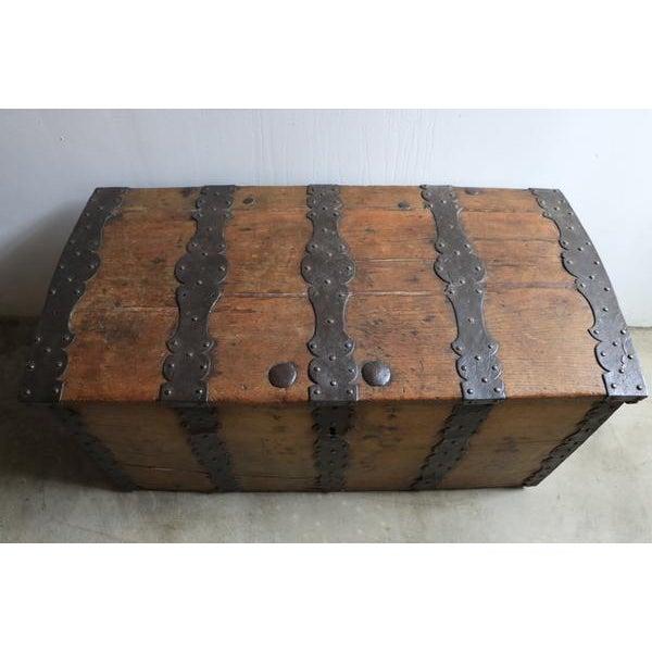 Mid 18th Century 18th Century Oak & Iron Danish Coffer For Sale - Image 5 of 10