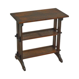 Roycroft Antique Mission Oak Little Journey's Book Stand For Sale