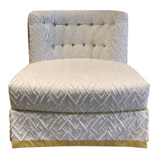 Century Furniture Juniper Skirted Chair For Sale