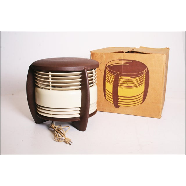 Vintage Mid Century Modern HASSOCK FAN. Beautiful brown and beige tones. Nice hard plastic and metal construction. Design...