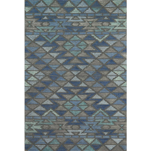 "Contemporary Justina Blakeney X Loloi Rugs Gemology Rug, Navy Gray - 2'6""x7'6"" For Sale - Image 3 of 3"