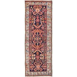 1950s Vintage Tribal Persian Hamedan Rug - 3′9″ × 10′3″ For Sale