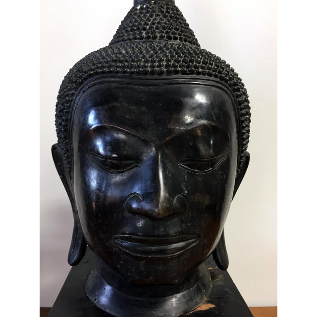 Extra Large Buddha Head Sculpture For Sale - Image 7 of 11