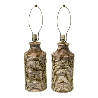 Pair Ceramic Table Lamps For Sale