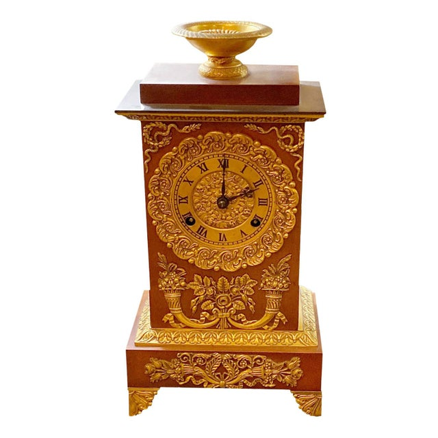 19th Century French Empire Ormolu Style Clock For Sale - Image 9 of 9