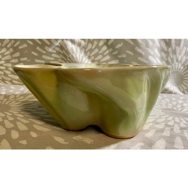 Vintage Hammat Mid-Century Pastel Green Glazed Pottery For Sale In Saint Louis - Image 6 of 9
