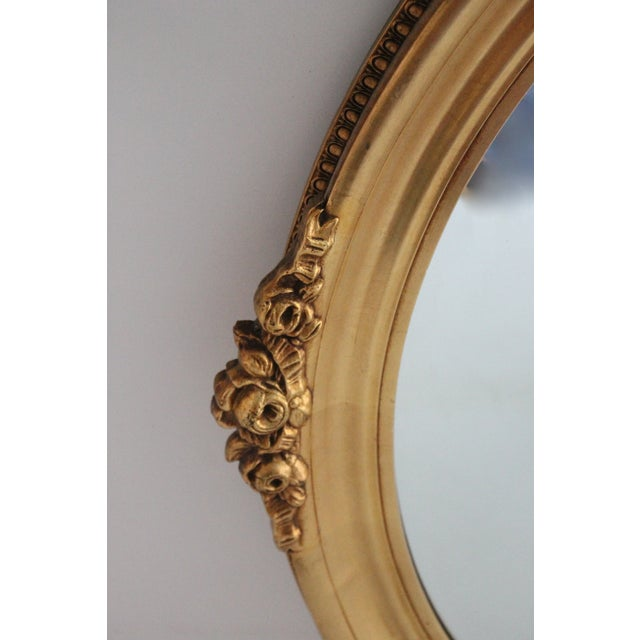 Gilded Rose Oval Mirror - Image 2 of 2