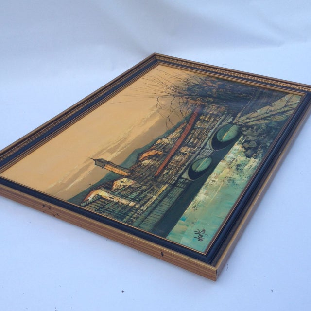 1930s Len Yini Mid-Century Oil on Canvas** For Sale - Image 5 of 6