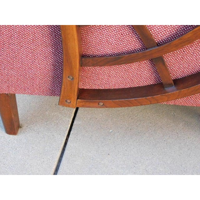 Gothic 1940s Vintage Swedish Modernist Winged Back Spider Web Armchairs- a Pair For Sale - Image 3 of 13