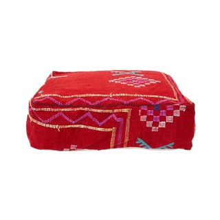 Moroccan Wool Pouf For Sale