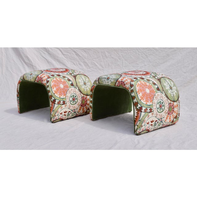 1970's Milo Baughman for Directional Waterfall Benches - a Pair For Sale In Philadelphia - Image 6 of 12