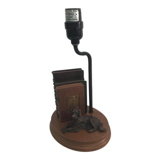 Dog and Book Collection Desk Lamp For Sale