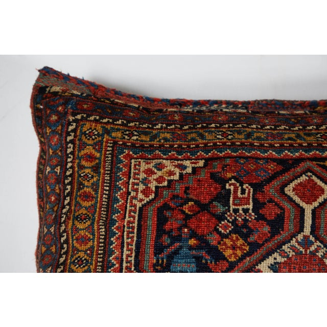 Late 19th Century Antique Qashqai Bag Face Pillow For Sale - Image 5 of 7