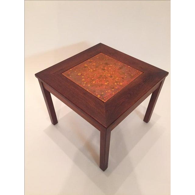 Danish Modern John Keal for Brown Saltman Tile Top Table For Sale - Image 3 of 6