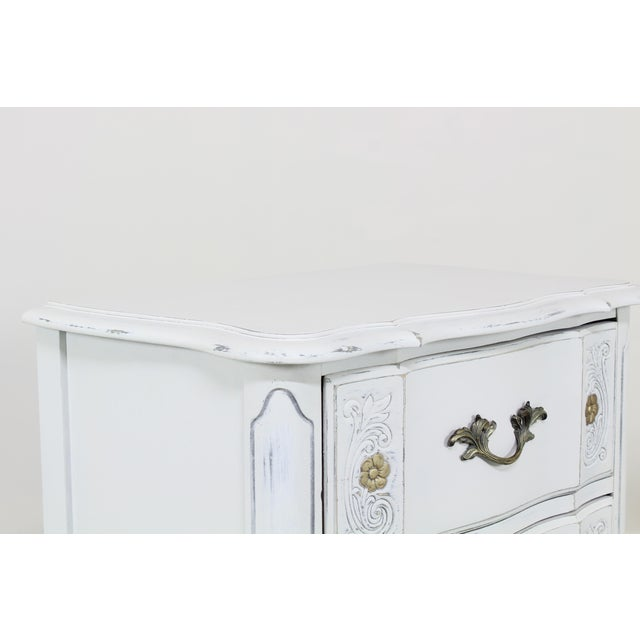 Vintage White French Provincial Nightstands - a Pair For Sale - Image 10 of 13
