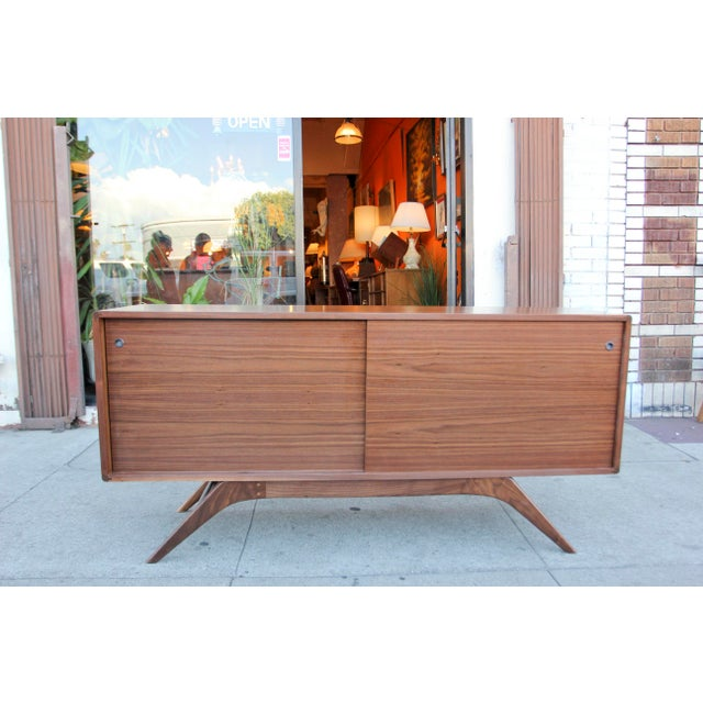 Mid-Century Walnut Credenza For Sale - Image 12 of 12
