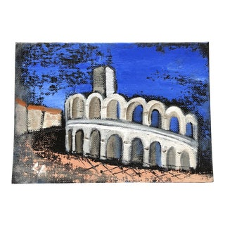 Contemporary Primitive Arles Coliseum Provence France Painting For Sale