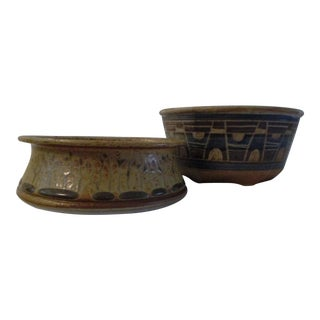 Vintage Studio Art Pottery Bowls - a Pair For Sale