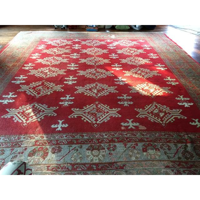 Large Vintage Turkish Wool Rug - 13′ × 14′6″ - Image 3 of 8