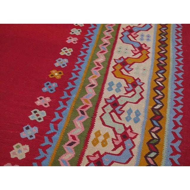 Fantastic Antique Oushak Kilim For Sale - Image 9 of 10