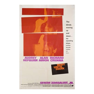 Wait Until Dark, 1967 U.S. One Sheet Film Poster For Sale