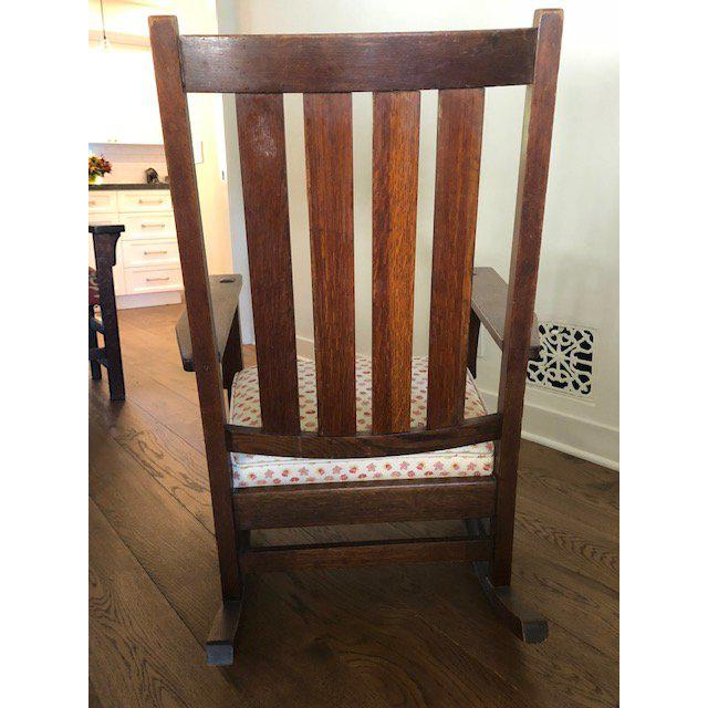 1930s Vintage Mission Style Rocking Chair For Sale - Image 4 of 10