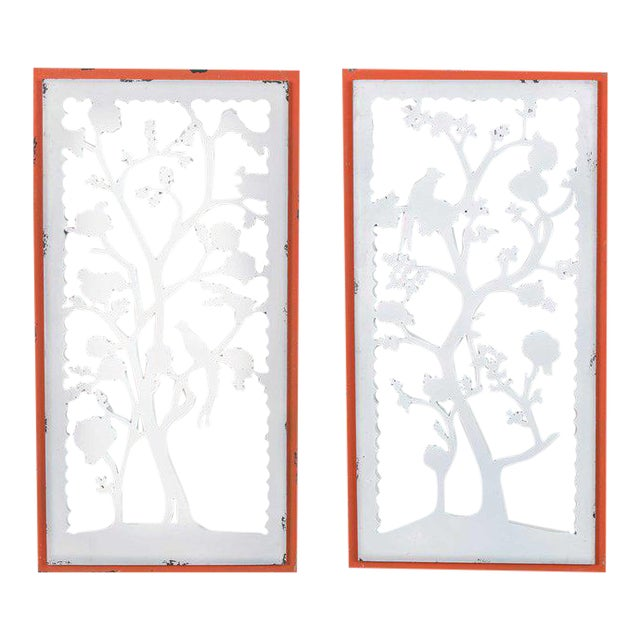 Wooden Hanging Wall Art - A Pair For Sale